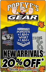 Popeye's GEAR 20% Off Fall Sale!