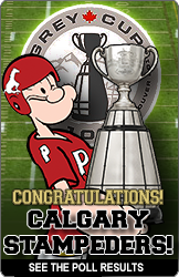 Popeye's 2014 Grey Cup Poll