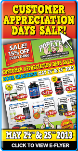 CUSTOMER APPRECIATION DAYS SALE! - May 24th & 25th, 2013