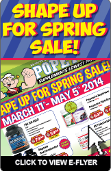 Shape Up for Spring Sale!