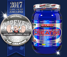 Silver: Top Creatine Monohydrate Award