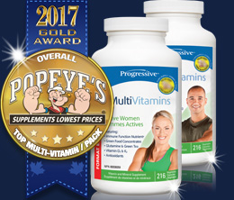 Gold: Top Multi-Vitamin/Pack Award